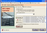 A screenshot of the program MP3 and WAV Solutions 1.1