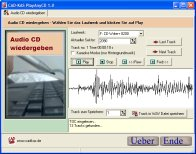 A screenshot of the program PlayAnyCD 1.0 - fix scratched cd