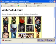 A screenshot of the program Web PhotoAlbum 1.0